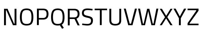 Titillium Web Regular Font UPPERCASE