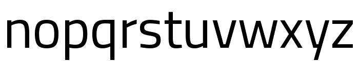 Titillium Web Regular Font LOWERCASE