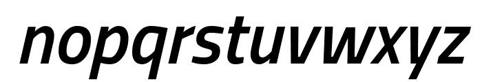 Titillium Web SemiBold Italic Font LOWERCASE