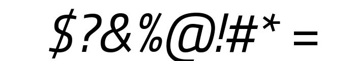 Titillium WebItalic Font OTHER CHARS