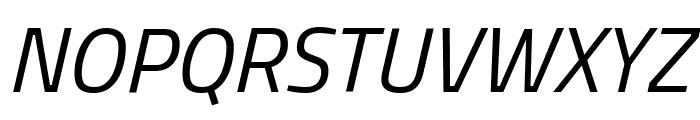 Titillium WebItalic Font UPPERCASE