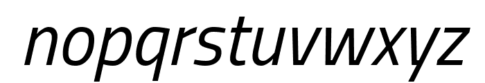 Titillium WebItalic Font LOWERCASE