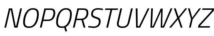Titillium WebLight Italic Font UPPERCASE