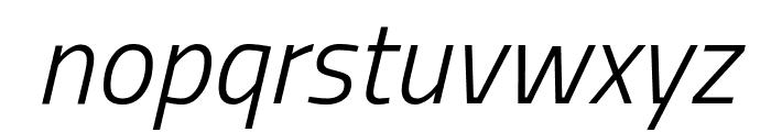 Titillium WebLight Italic Font LOWERCASE