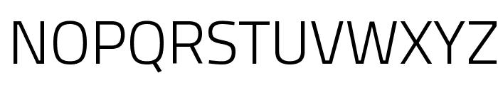 Titillium WebLight Font UPPERCASE