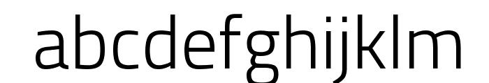 Titillium WebLight Font LOWERCASE