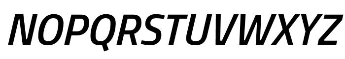 Titillium WebSemiBold Italic Font UPPERCASE