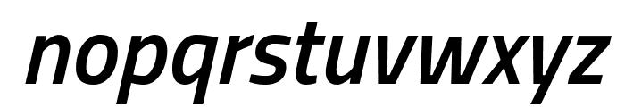 Titillium WebSemiBold Italic Font LOWERCASE