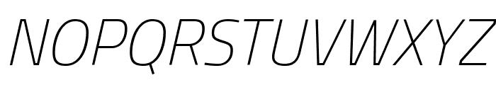 Titillium WebThin Italic Font UPPERCASE