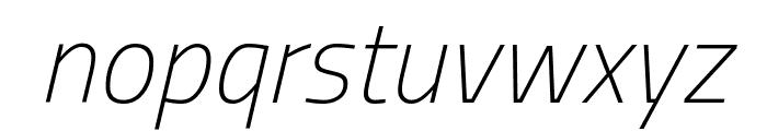 Titillium WebThin Italic Font LOWERCASE