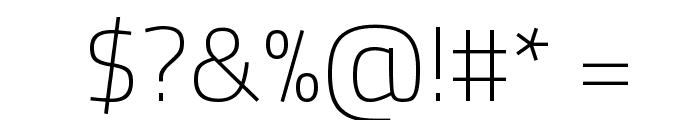 Titillium WebThin Font OTHER CHARS