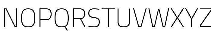 Titillium WebThin Font UPPERCASE