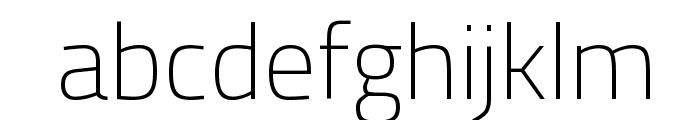Titillium WebThin Font LOWERCASE