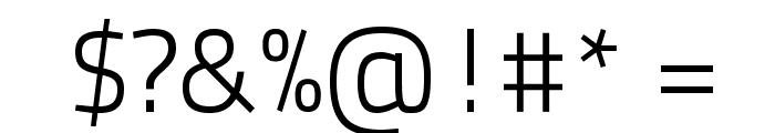 TitilliumText22L-250wt Font OTHER CHARS