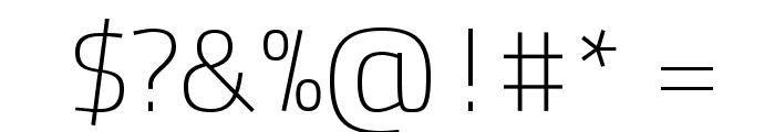 TitilliumText25L-1wt Font OTHER CHARS