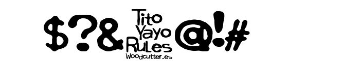 Tito Yayo Rules Font OTHER CHARS