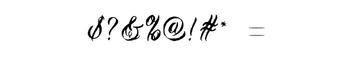 Tiza Script Medium Font OTHER CHARS