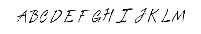 Tiza Script Medium Font UPPERCASE