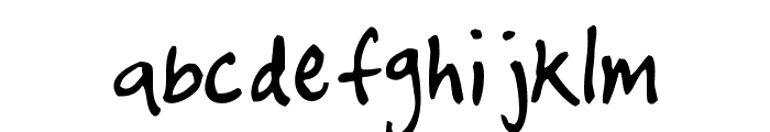 timtastic! hand Font LOWERCASE