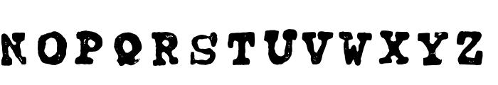 tipo carimbado Font UPPERCASE