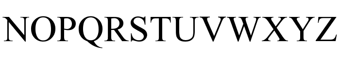 Times New Roman Font UPPERCASE