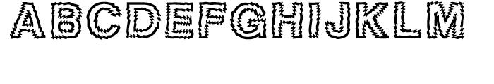 Tigerteeth Caps Font UPPERCASE