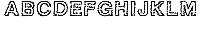 Tigerteeth Caps Font LOWERCASE
