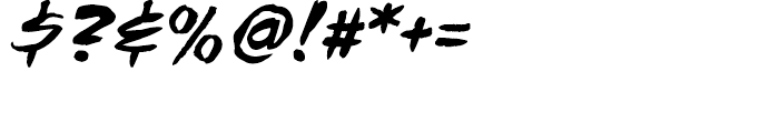 Tim Sale Brush Intl Brush Italic Font OTHER CHARS