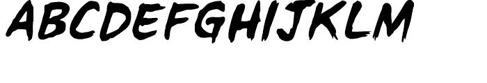 Tim Sale Brush Intl Brush Italic Font UPPERCASE