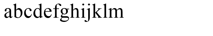 Times New Roman CE Package Font LOWERCASE