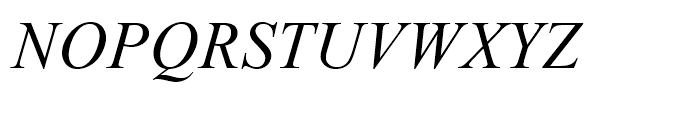 Times New Roman OS Italic Font UPPERCASE