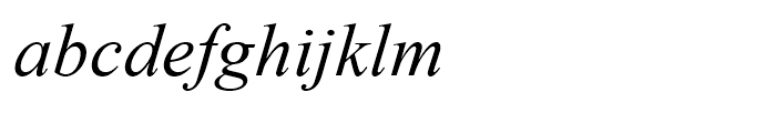 Times New Roman OS Italic Font LOWERCASE