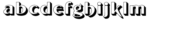 Tintoretto Fill Font LOWERCASE