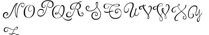 Tita Script Essential Font UPPERCASE