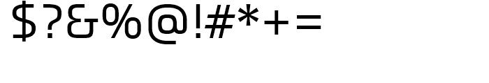 Titanium Regular Font OTHER CHARS