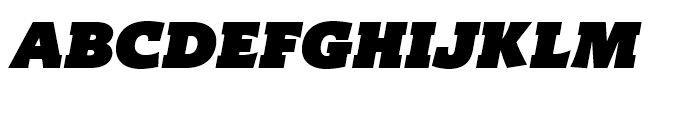 Titla Brus Ultra Italic Font UPPERCASE