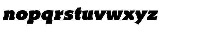 Titla Brus Ultra Italic Font LOWERCASE