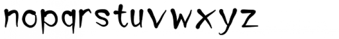Tiap Liap 4F Bold Font LOWERCASE