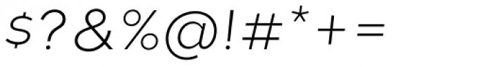 Tide Sans 200 Lil Mondo Italic Font OTHER CHARS