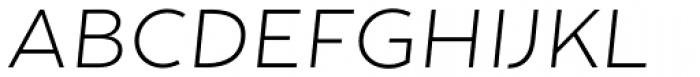Tide Sans 200 Lil Mondo Italic Font UPPERCASE
