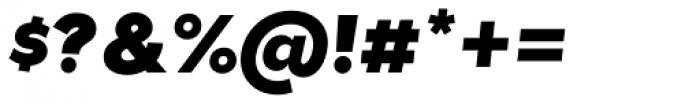 Tide Sans 700 Mondo Italic Font OTHER CHARS
