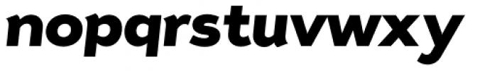 Tide Sans 700 Mondo Italic Font LOWERCASE