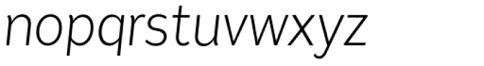 Tide Sans Condensed 200 Lil Mondo Italic Font LOWERCASE