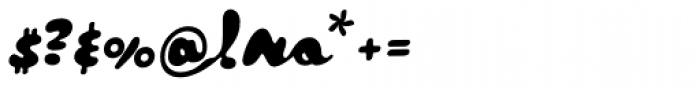 Tide Script Font OTHER CHARS
