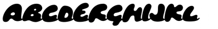 Tide Script Font UPPERCASE