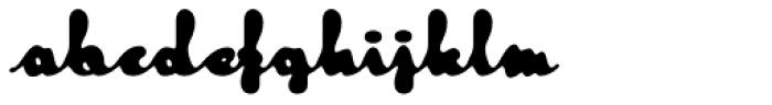 Tide Script Font LOWERCASE