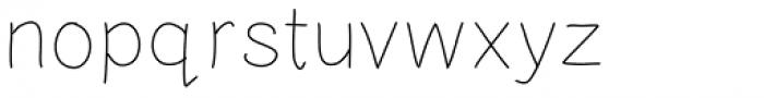 Tidy Hand Light Font LOWERCASE