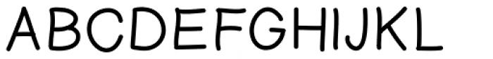 Tidy Hand Regular Font UPPERCASE