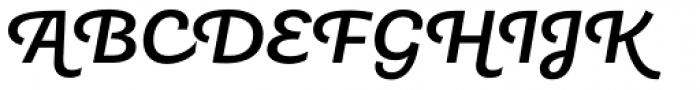 Tidy Script Medium Font UPPERCASE