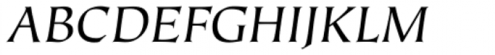 Tiepolo Book Italic Font UPPERCASE
